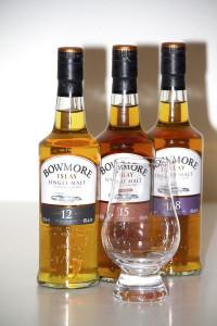 Flaskorna som ingår i Bowmore Box