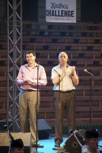 Dr Bill Lumsden och Mickey Heads på Ardbeg Challenge Stockholm 2011