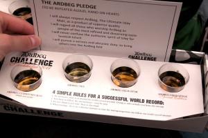 Whiskyproverna vid Ardbeg Challenge