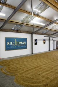 Golvmältning på Kilchoman
