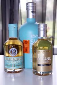Bruichladdich The Organic, 12 second edition och Sherry Classic