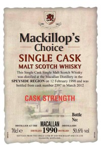 Mackillop's Choice Macallan 1990