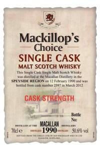 Mackillop's Choice Macallan 1990
