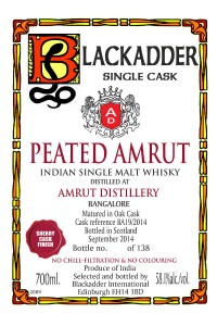 Blackadder Peated Amrut Sherry Finish