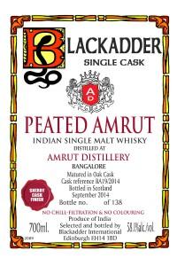 Blackadder Peated Amrut Sherry Finish